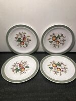 4 HEREFORD ALFRED MEAKIN STAFFORDSHIRE BREAD PLATES  6 1/2''