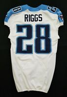 #28 Cody Riggs of Tennessee Titans NFL Locker Room Game Issued Jersey