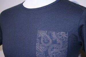 Pretty Green Micro Dot Paisley T-Shirt - XS/S - Petroleum Blue - Mod Casuals Top