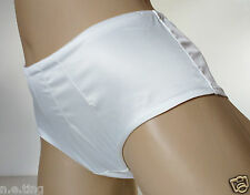 Luxury Ivory Silky Smooth Satin Hipster Panties Short Wedding Knickers UK 14 L