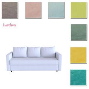 Custom Made Cover Fits IKEA Friheten Three Seat Sofa Bed, Sleeper Cover, Velvet