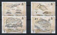 Pitcairn Islands 2017 MNH Maps of Pitcairn Through Centuries 4v Set Stamps