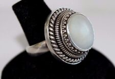 Mother of Pearl Spinner Type 7.25 Ring Unique 925 Sterling Silver 16.67 g
