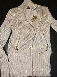 ed hardy zip sweater With Gold Accents Small