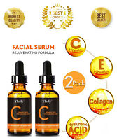 2 PACK~ #1 BEST Anti Aging Vitamin C Serum Hyaluronic Acid With Collagen Retinol