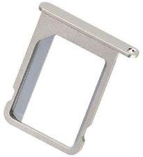 Soporte de tarjeta SIM para el iPhone 4 plata metal #E735