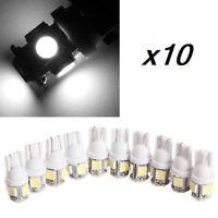 10 Bombillas T10, 5 L'eds 5050 SMD 168 194 W5W, Iluminacion Coche, Blanco frio