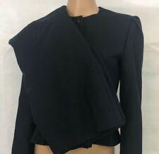 Vintage Diane Von Furstenberg Women's Wool 2 Piece Skirt Suit Size 6 Navy Blue