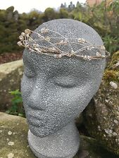Genuine SWAROVSKI Crystal WEDDING/BRIDAL Tiara - clear & light smokey quartz