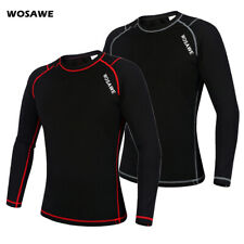 Winter Mens Cycling Jersey Base Layer Sports Tops Thermal Fleece Warmer Elastic