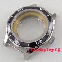 Solid 41mm sapphire glass ceramic bezel SS watch case fit Miyota 8215 movement