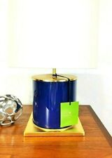 KATE SPADE NEW YORK BLUE GOLD CYLINDER TABLE LAMP NO/SHADE