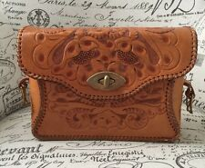 VTG Clifton Hand Tooled Purse South-Western Flap Closure Western Equestrian