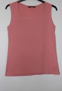 Bonmarche Dusky Pink Cotton Vest Top Size 16