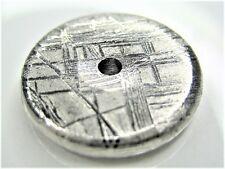 20MM DONUT GIBEON IRON METEORITE ROUND BEAD - 9 grams (solid)