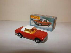 MATCHBOX S/F NO.6-B MERCEDES 350 SL TOURER BRIGHT RED,AMBER,WHITE TOP MIB
