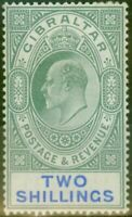 Gibraltar 1903 2s Green & Blue SG52 Fine & Fresh Lightly Mtd Mint (8)