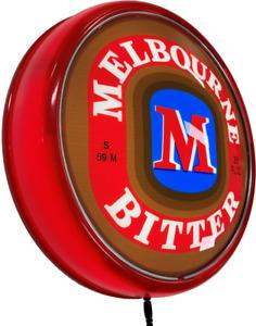Melbourne Bitter Beer Bar Lighting Wall Sign Light Button Red
