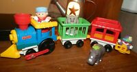 Vintage 1991 Fisher Price Little People Chunky Circus Train Set Animals Figures