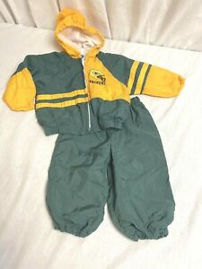 Babyfair Green Bay PACKERS Baby 12 Mos JoGGING SUIT Hooded Lined Jacket & Pants