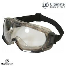 UCI Kara Quality Clear Protective Wide Vision Sealed Safety Goggles Eyewear PPE