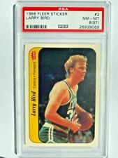 1986 Fleer Sticker Larry Bird #2  (NM - MT) PSA 8 (ST)