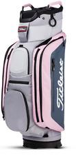 New In Stock Titleist 14 Club Cart Bag Sleet/Charcoal/Petal Free Shipping