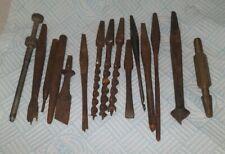 Joblot Of Vintage William Ridgeway Drill Bits. & Various bits.