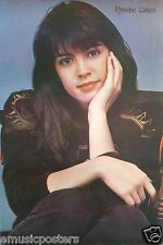 """PHOEBE CATES """"HEAD RESTING ON HER PALM"""" POSTER FROM ASIA-Cute, Sexy 80's Actress"""