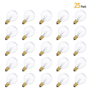 25Pcs G40 Replacement Globe Bulbs for Garden Outdoor Festoon String Lights H2F6