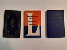 4 alte Wörterbücher, 2 x Italienisch, 1x Neugriechisch, 1 x Englisch f. Architek
