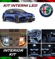KIT FULL LED ALFA ROMEO GIULIETTA 2014> LED 6000K INTERNI TARGA CANBUS NO AVARIA