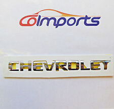 CHEVROLET SILVER LETTERS HOOD OR SISE TAILGATE EMBLEM BADGE NAMEPLATE CHROME