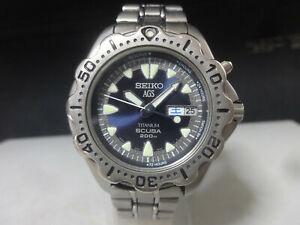 Japan 1995 SEIKO AGS watch [Titanium SCUBA 200 m] 5M23-6B40
