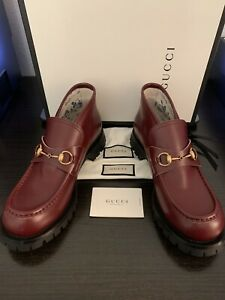 MEN'S GUCCI CRUISE LEATHER HORSEBIT LOAFER BOOT SIZE 12 US/ SIZE 11 GUCCI $1,250