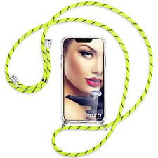 Handykette Cross Body Hülle Band Neck Case für Apple iPhone 11 Pro - neongelb