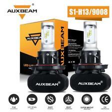 AUXBEAM H13 9008 LED Headlight Bulb CSP Kit 8000LM 50W 6500K Dual High Low Beam