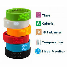 Unbranded Wristband Pedometers with Temperature