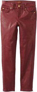 NWT Designer 7 For All Mankind Big Girls The Skinny Coated Leggings Jeans Sz 14