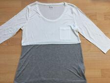 BODEN white / grey colourblock  top size 8  NEW