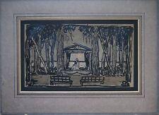 Lithuanian-Russian M.V. Dobuzinskij Stage Design for Seagull 1913