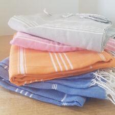 Turkish Hammam Towel Orange Pestemal Beach Travel Peshtemals Bath Cotton Large