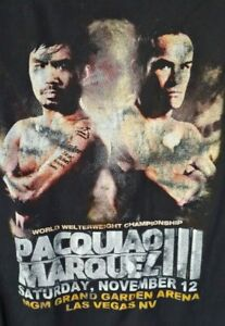 Manny Pacquiao vs. Juan Marquez III Fight Tee Shirt Mens XL MGM Vegas