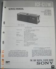 SONY ICF-C17W FM/AM Digital Clock Radio Service Manual