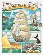 Vintage Replica Tin Metal Sign back out to the sea ships sail ocean sand 1285