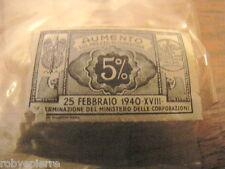 MARCA BOLLO DA AUMENTO SUL PREZZO DI COPERTINA 5% 1940