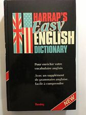 HARRAP'S DICTIONNAIRE ANGLAIS EASY ENGLISH DICTIONARY 1982