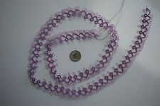 "Tatting/Tatted Lace Edging 29"" (Med. Violet/Pink) New"
