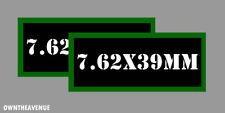 """7.62x39MM Ammo Can Labels for Ammunition Case 3.5"""" x 1.50"""" stickers decals 2PACK"""