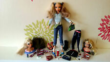 Barbie My Scene swappin têtes style Kennedy Doll plus vêtements & accessoires difficile